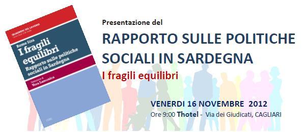 Rapporto sulle politiche sociali in Sardegna