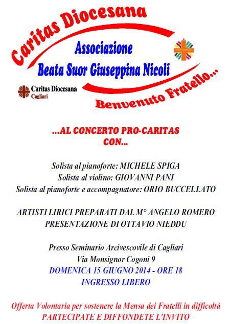concerto caritas 15 giugno 2014