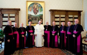 vescovi sardi con papa
