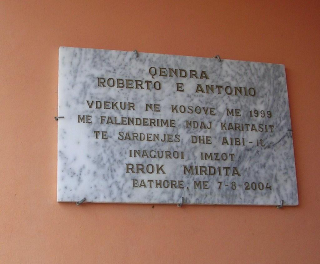 Centro Roberto e Antonio di Bathore (Albania)